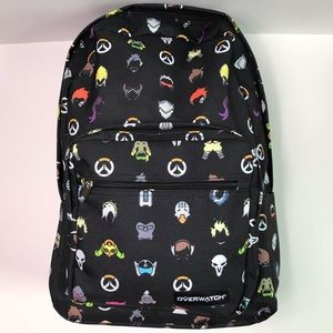 Loungefly Overwatch Blizzard Icons Print Backpack